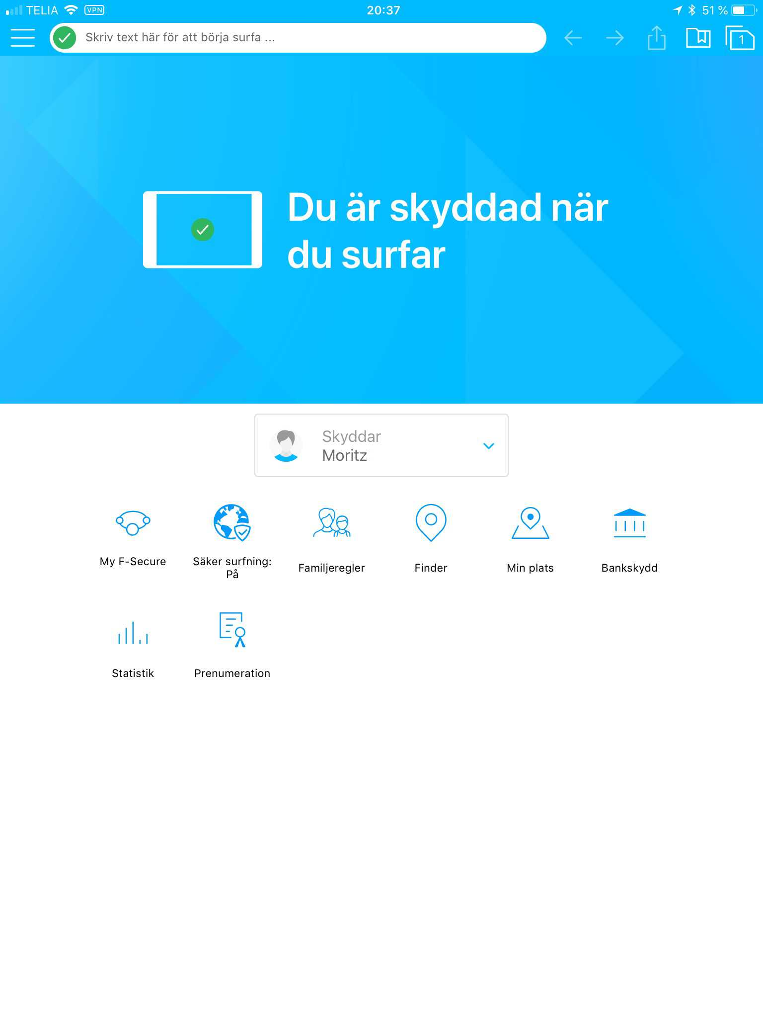 F-Secure Safe - iOS 10 och Klar